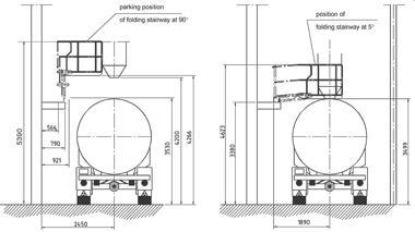 E0264 Bulk Folding Stairway schematic