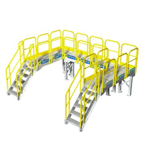 ErectaStep's industrial line of metal stairs and industrial maintenance work platforms