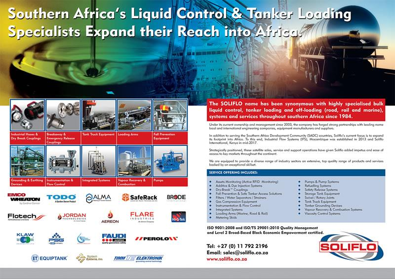 Archive Ad - Southern Africa's Liquid Control & Tanker Loading Specialists Expand their Reach into Africa